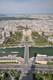 View of Paris from the top of Eiffel tower. Royalty Free Stock Photography
