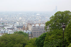 View on Paris from top of Montmartre Royalty Free Stock Image
