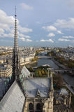 View of Paris from top Notre Dame Stock Photos