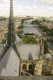 View of Paris from the top of Notre Dame Cathedral royalty free stock photo