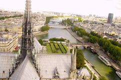 View of Paris from the top of Notre Dame Cathedral Stock Photo