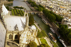 View of Paris from the top of Notre Dame Cathedral Stock Photos