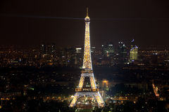 View of the Paris and Tower Eiffel  on April Royalty Free Stock Photography