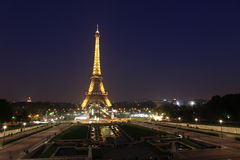 View of the Paris and Tower Eiffel Royalty Free Stock Photography