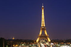 View of the Paris and Tower Eiffel Stock Image