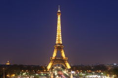 View of the Paris and Tower Eiffel  on May 3, 20. PARIS - MAY 3 : View of the Paris and Tower Eiffel  on May 3, 2013 in Paris. The Eiffel tower is the most Stock Photos