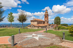 View on parish church in Italy. Stock Images