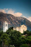 View of the parish church of Santo Stefano in  Malcesine Royalty Free Stock Photo