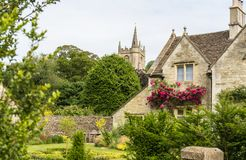 View of the parish church of St Andrew Castle Combe royalty free stock images