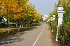 A view in the park in Astana, in fall time Stock Photo