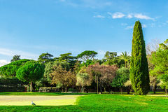 View of park on Castle Hill, Nice, French Riviera. Stock Photography