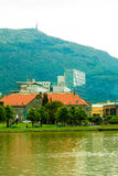 View of park in city Bergen on July 25, 2014 in Norway Stock Photos