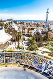 View From Park Guell - Barcelona, Catalonia, Spain. View From Park Guell - Park Guell, Barcelona, Catalonia, Spain, Europe Stock Photography