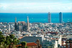 View from Park Guell. Barcelona, Spa stock photo