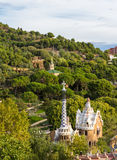 View of Park Guell in Barcelona - Spain Royalty Free Stock Images