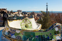 View of Park Guell Royalty Free Stock Images