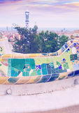 View of Park Guell in Barcelona Royalty Free Stock Photo
