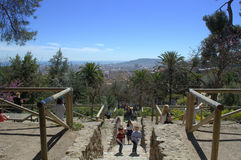 View from Park Guell,Barcelona Spain Royalty Free Stock Photo