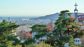View from Park Guell in Barcelona (Spain) Royalty Free Stock Photo