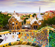 View of Park Guell in Barcelona, Spain.  Stock Photography