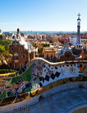 View of Park Guell in winter. Barcelona Stock Image