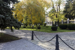 View of a park in Krasnodar, Russia. Under the Koppen climate c Royalty Free Stock Image