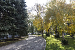 View of a park in Krasnodar, Russia. Under the Koppen climate c Royalty Free Stock Images