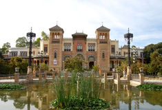 View of park Maria - Luisa in Andalusia Royalty Free Stock Photography