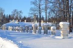 View of park in Oranienbaum Stock Photo