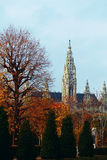 View of the park and the palace. Views of the autumn park and palace stock photography