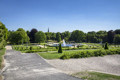 View on a park from Sanssouci Palace, Germany Royalty Free Stock Photos