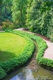 View of  park Sofiyivska botanical garden in Uman city, Ukraine. Park Sofiyivka is a landmark of gardening design at the beginning of the 19th century Stock Photos