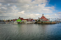 View of Parkers Lighthouse in Long Beach  Royalty Free Stock Images