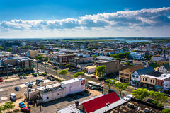 View from a parking garage in Atlantic City, New Jersey. Royalty Free Stock Image