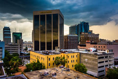 View from a parking garage in Orlando, Florida. Stock Images