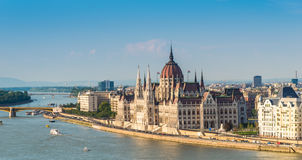 View at the parliament in Budapest Royalty Free Stock Image