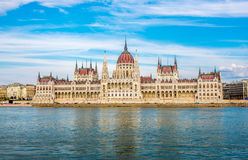 View at the parliament in Budapest Stock Image