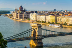 View at the parliament in Budapest Royalty Free Stock Photography