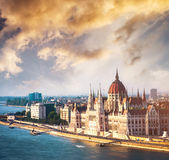 View on Parliament in Budapest Royalty Free Stock Images