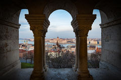 View on parliament building in Budapest, Hungary. Royalty Free Stock Photo