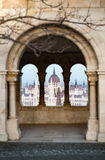 View on parliament building in Budapest, Hungary. Royalty Free Stock Images