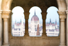 View on parliament building in Budapest, Hungary. Royalty Free Stock Image