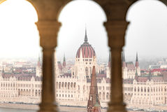 View on parliament building in Budapest, Hungary. Stock Images