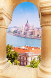 View on parliament from Fisherman's Bastion Royalty Free Stock Image