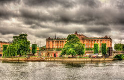 View of the Parliament House in Stockholm Stock Images