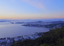 View from Parque da Cidade in Niteroi Royalty Free Stock Photography