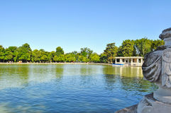View of Parque del Buen Retiro Stock Image