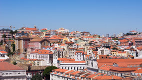 A view part of the city Lisbon. Stock Image
