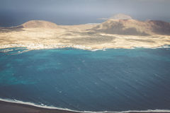 View of the part of Graciosa Island from Mirador del Rio, Lanzar Royalty Free Stock Image