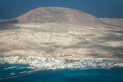 View of the part of Graciosa Island from Mirador del Rio, Lanzar Royalty Free Stock Photography